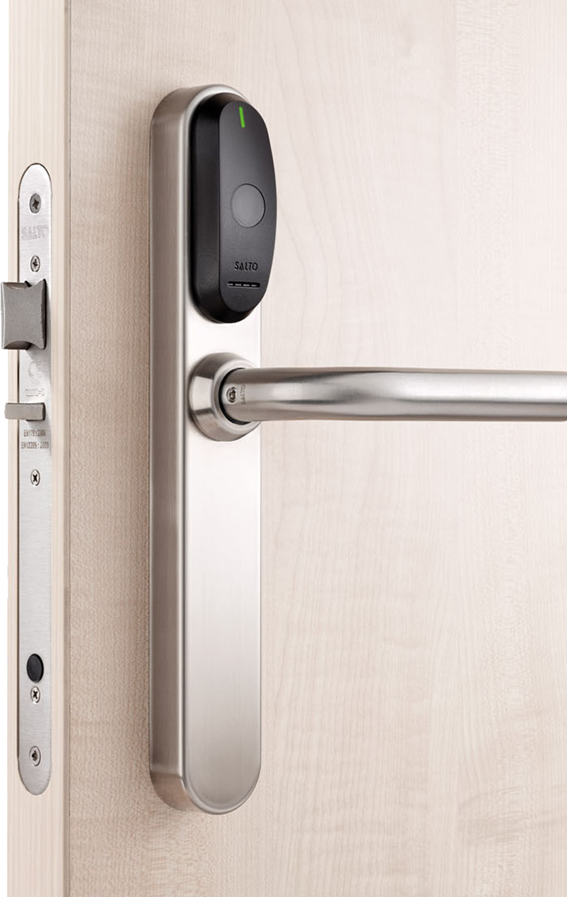 Door with Salto Access Control Sensor