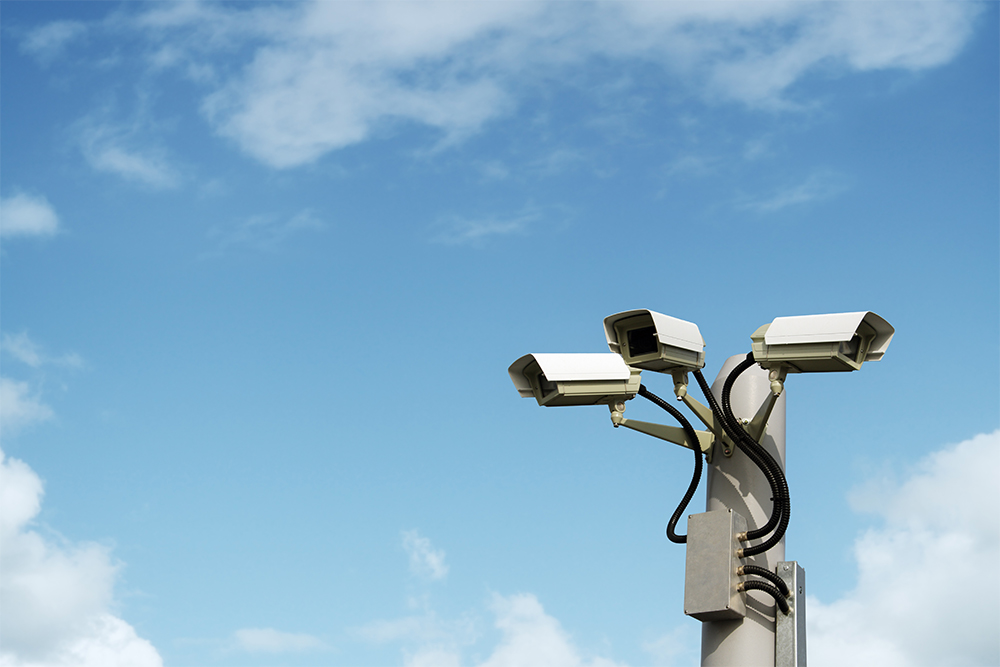 maritime security cameras outside