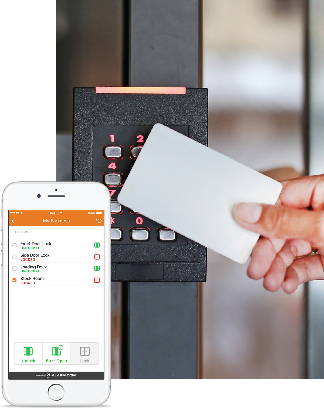 Alarm.com Keypad and Mobile App