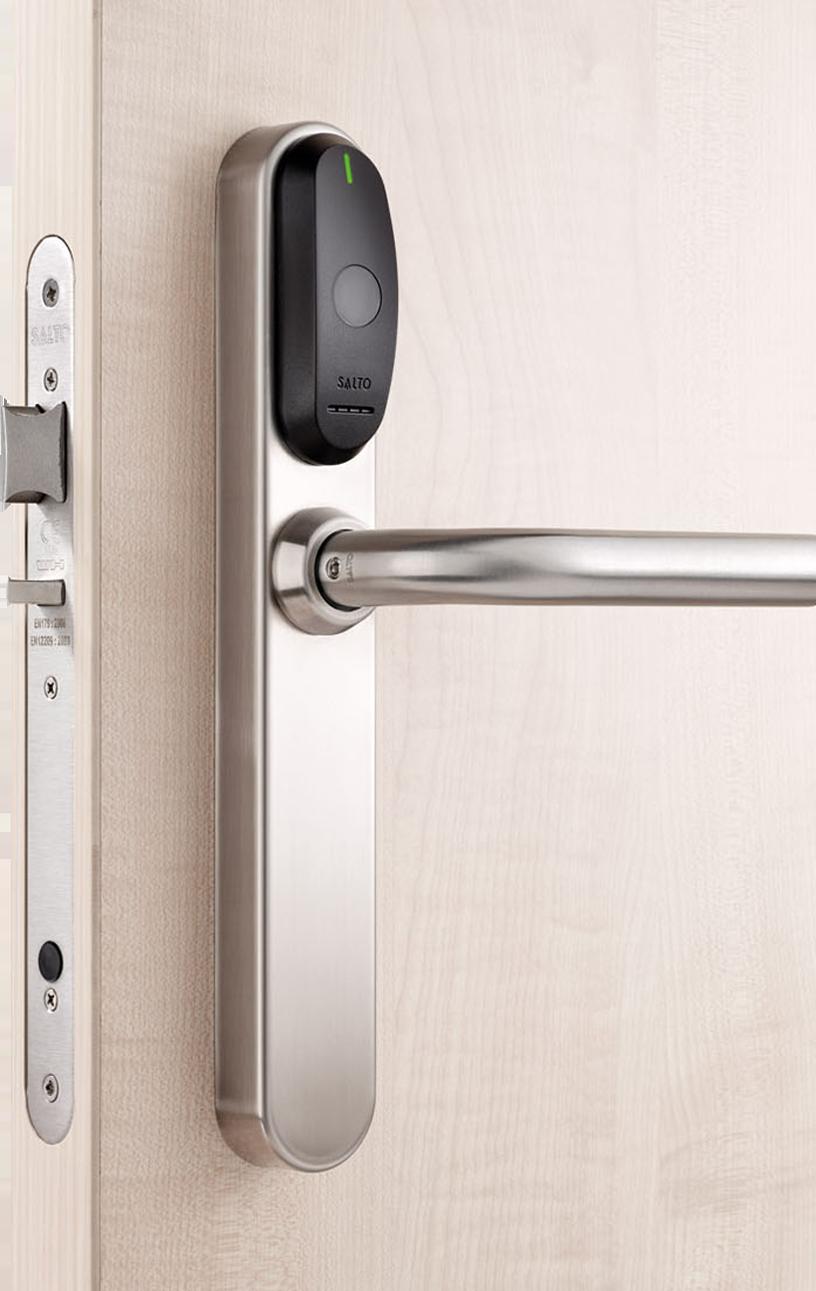 Door with Salto Access Control Sensor