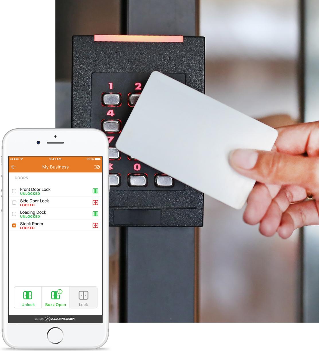 Alarm.com Key Card and Key Pad