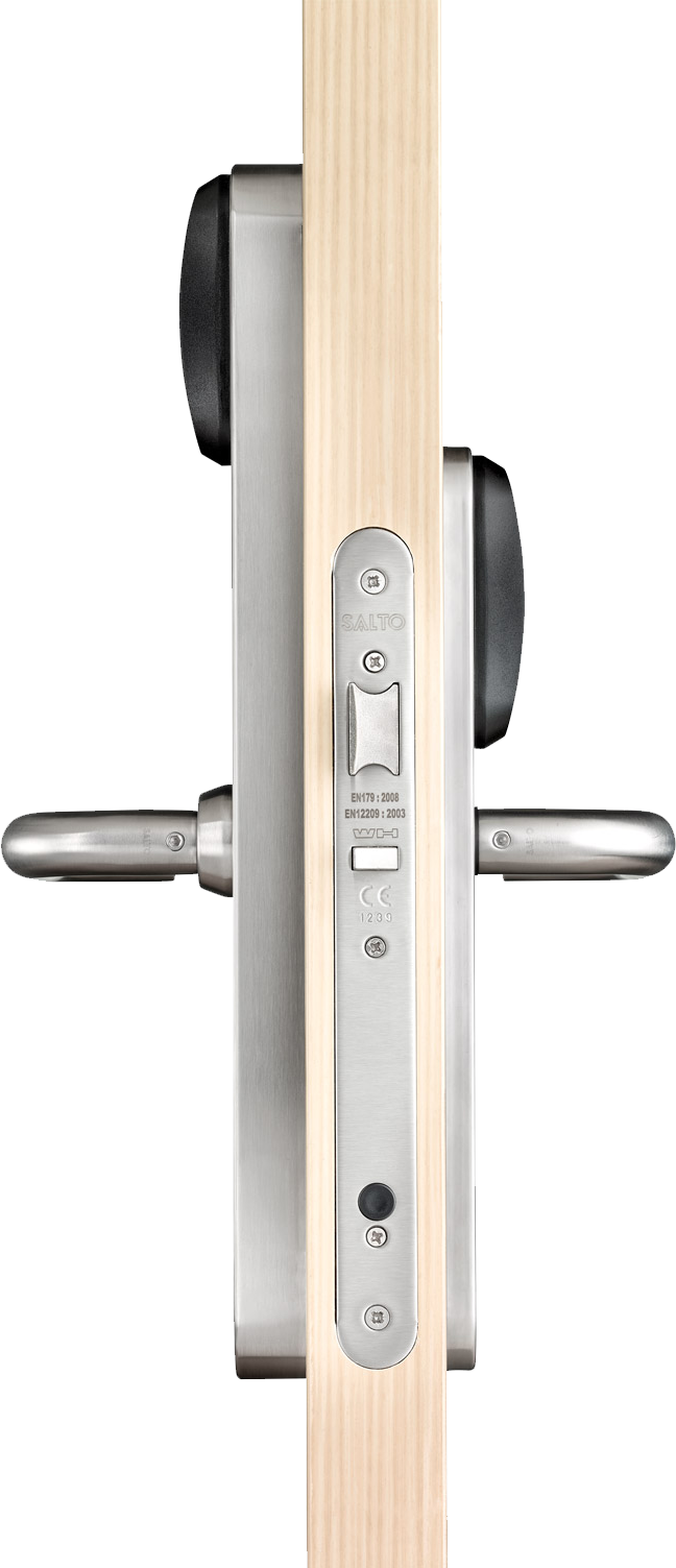 salto wireless door security system for homes and multifamily construction