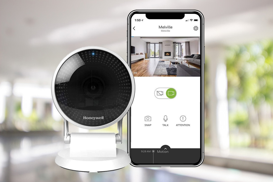 home security camera on smartphone
