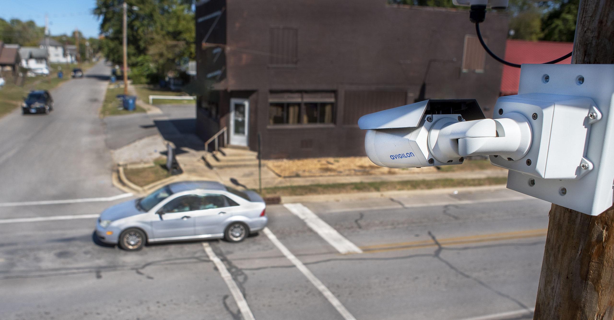 remote security camera at intersection Mt Vernon Illinois