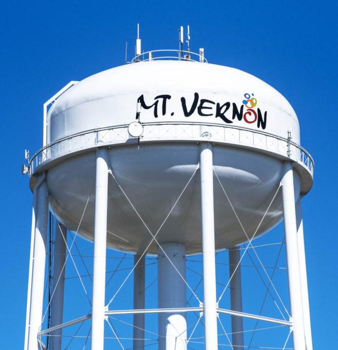 Mt. Vernon Illinois water tower