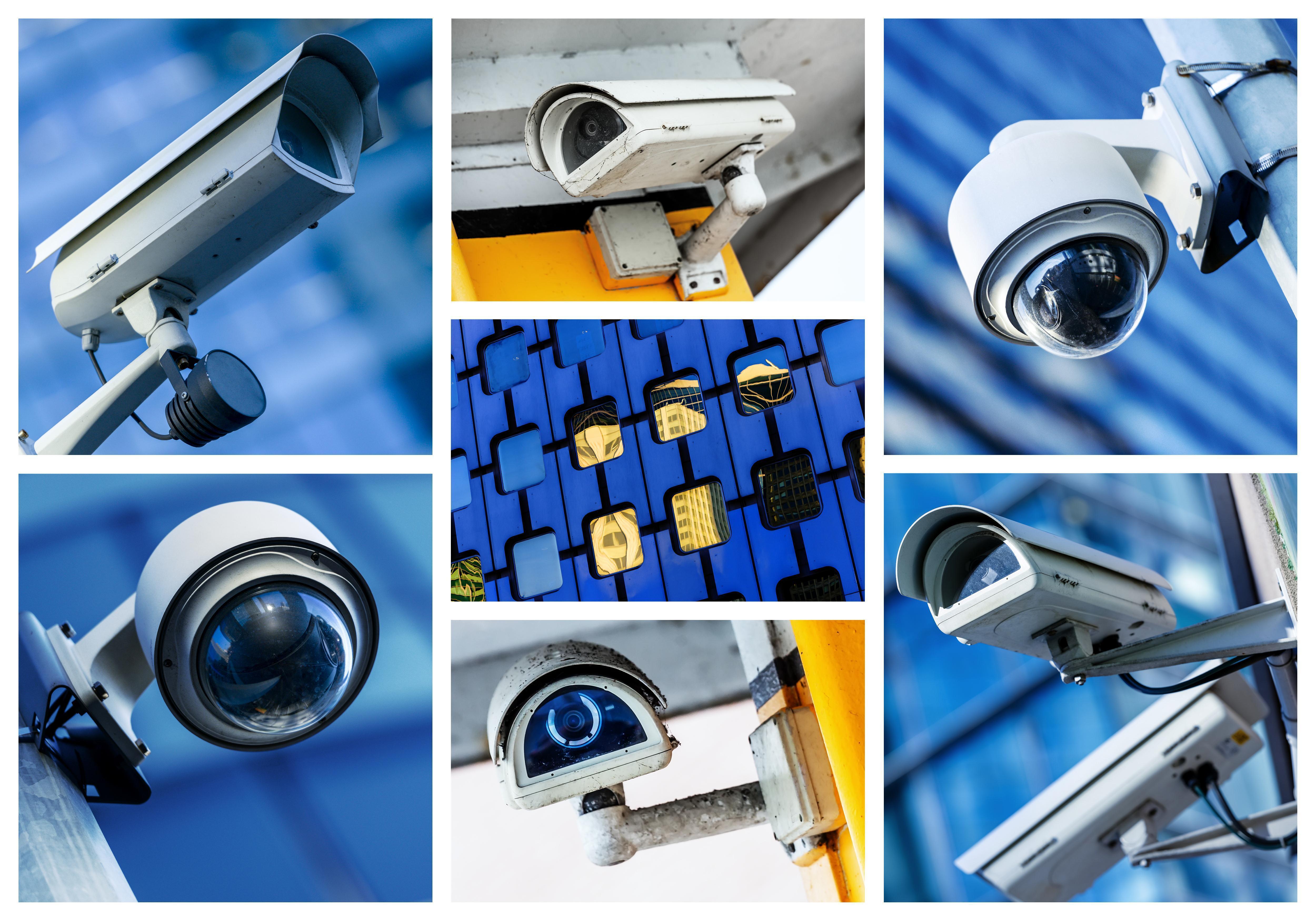 multiple outdoor security cameras