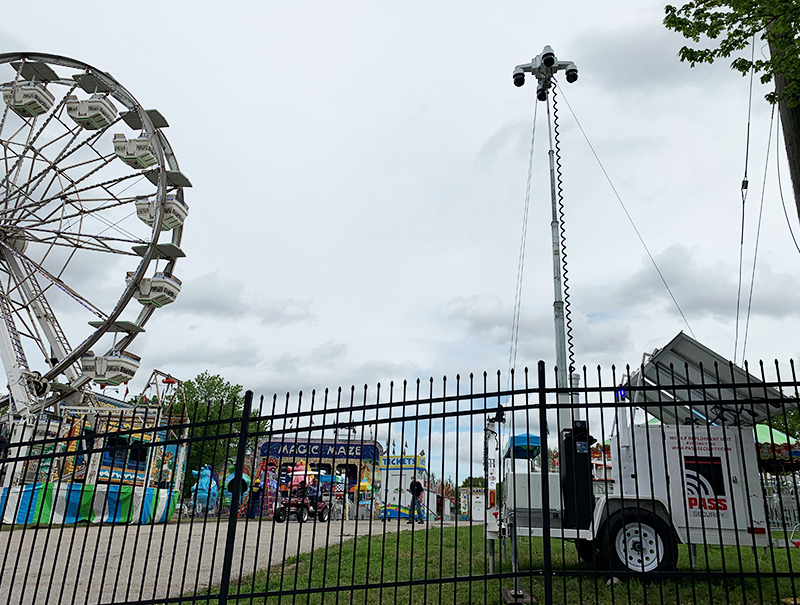 pass security trailer at florissant valley of the flowers festival