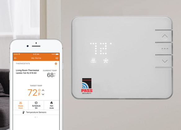 PASS security home smart thermostat