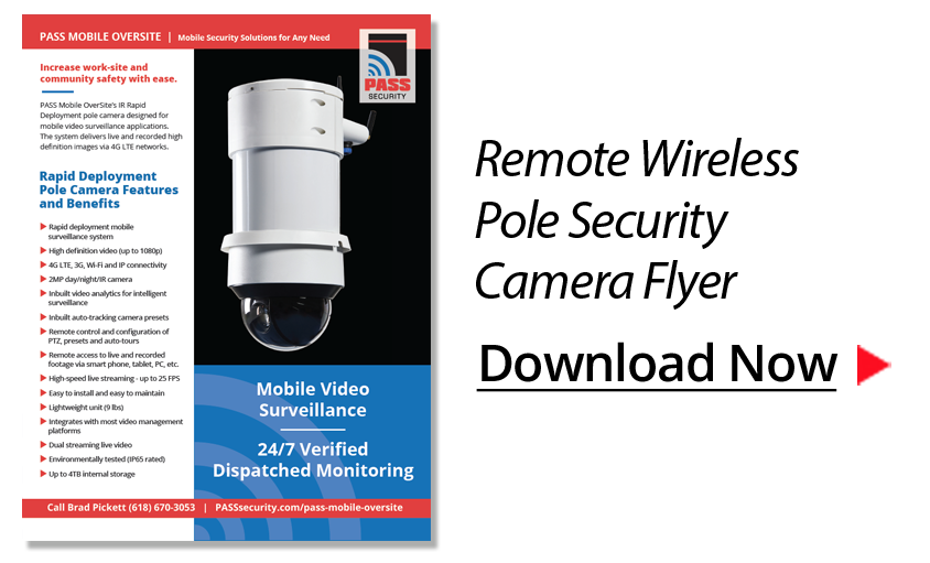 video surveillance pole camera specs