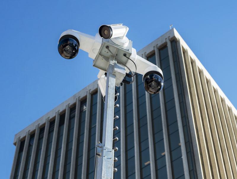 mobile video surveillance security camera trailer in clayton missouri