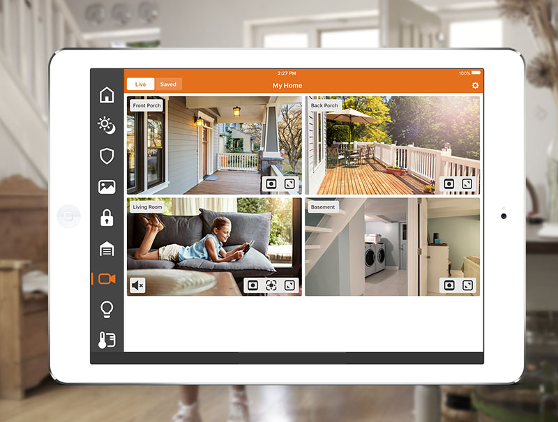 home security monitoring on your phone or tablet