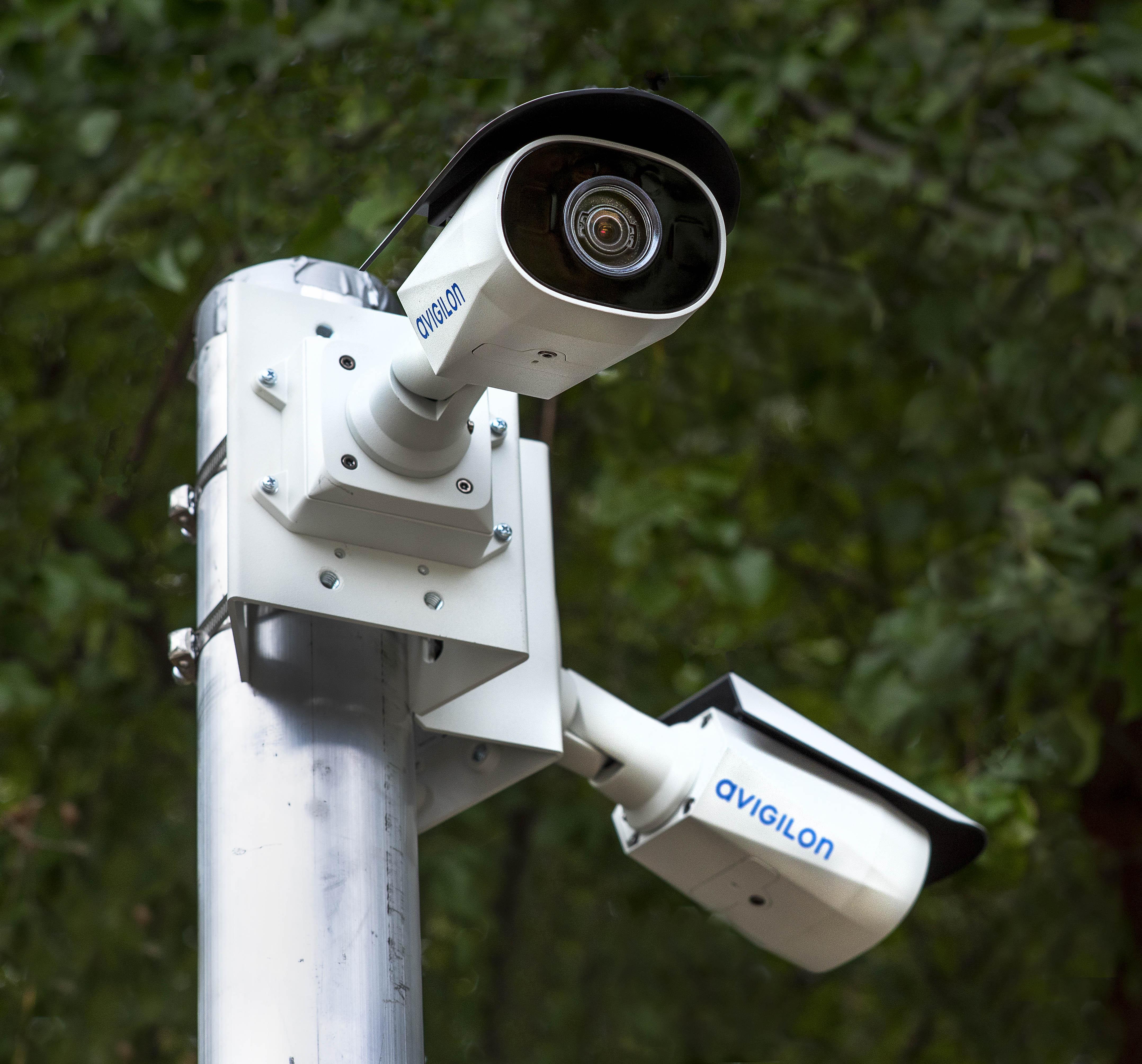 video surveillance security pole camera