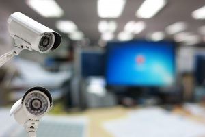 video surveillance security cameras in work place