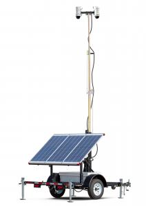wcctv solar security camera video surveillance trailer